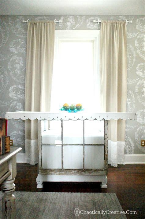 Drop Cloth Curtain Panels  Chaotically Creative