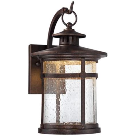 callaway rustic bronze 11 quot high led outdoor wall light