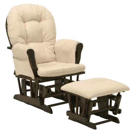 glider chair and ottoman brand new glider chair with arm cushions and ottoman in