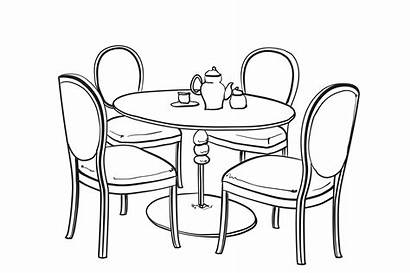 Dinner Sketch Table Furniture Creativemarket Illustrations Dressing