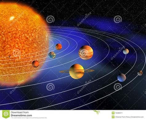 zonnestelsel stock illustratie illustratie bestaande uit ster