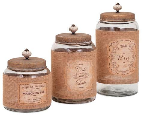 canisters kitchen decor vintage lidded glass jars set of 3 farmhouse