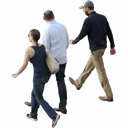 Walking Three Photoshop Away Person Friends Crowd