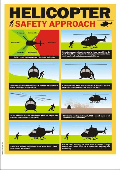 aviation safety poster helicopter safety approach