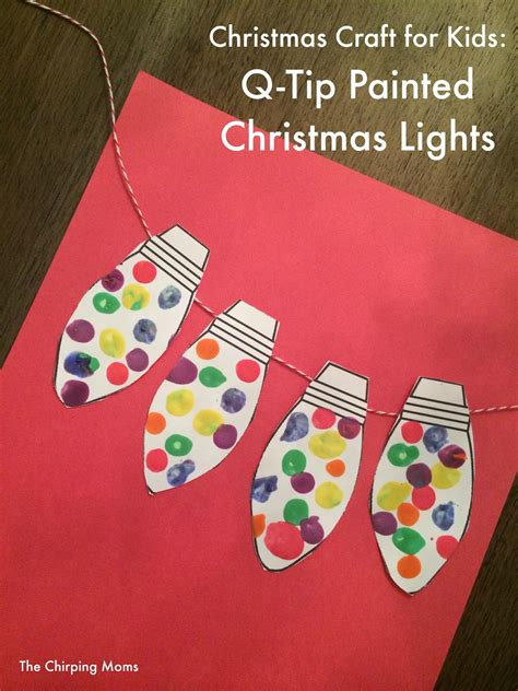 12 crafts for to make this week the 236 | Q TipChristmasLights