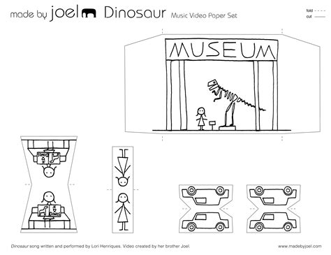 joel dinosaur paper city    joel
