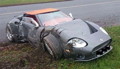 lexus maroon sad rare spyker c8 totaled in latvia