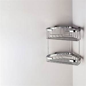 porte savon d39angle double baskets With porte gel douche a suspendre
