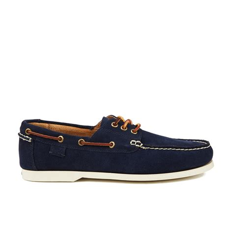 Navy Polo Boat Shoes by Polo Ralph S Bienne Ii Suede Boat Shoes