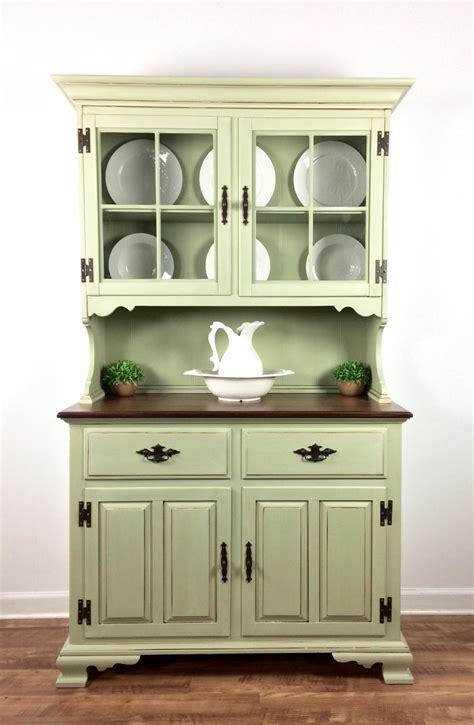 hutch kitchen furniture hutch in bayberry green chalk style paint glazing