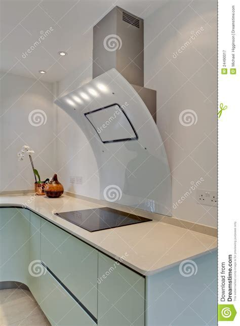 Modern Kitchen Cooker Hood And Hob Royalty Free Stock