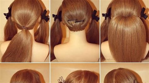 Chignon for long hair   Hair Style and Color for Woman