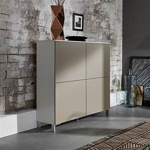 Highboard Modern : terence highboard in white with sand fronts and 4 doors ~ Pilothousefishingboats.com Haus und Dekorationen