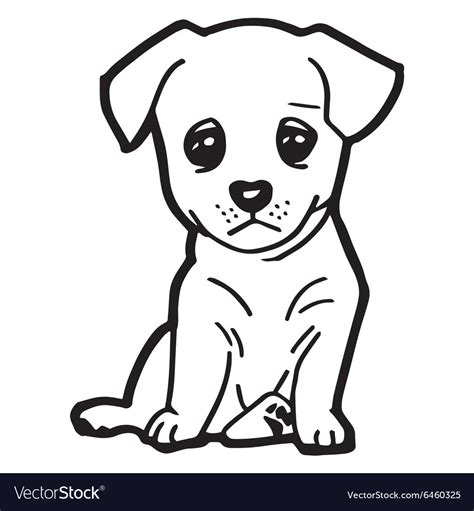cute dog coloring page royalty free vector image