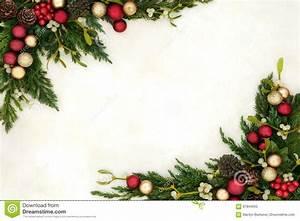 Christmas Invite Background Christmas Bauble Border Stock Image Image Of Blank