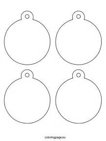 Christmas Tree Ornaments Coloring Template