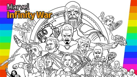 Coloring Pages Of Avengers Sanfranciscolife