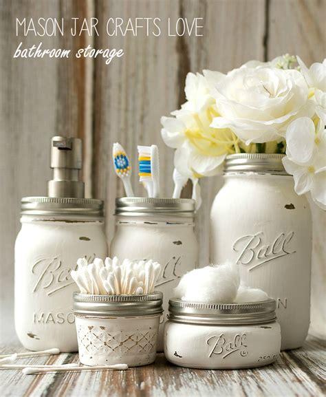 A Dozen Mason Jar Ideas For The Bathroom Yesterday On