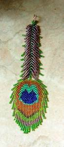 Free Bead Pattern For Peacock Feather Featured On Bead