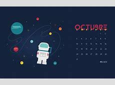 Calendario Descargable Octubre 2016 • Silo Creativo