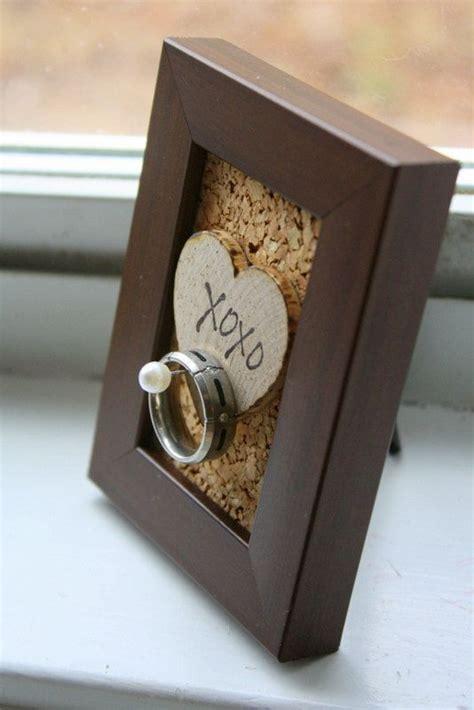 wedding ring holder frame rustic shabby chic by