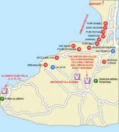Uluwatu Bali Map