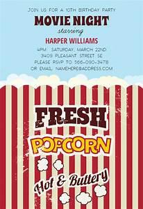 Free 1st Birthday Invitation Popcorn Birthday Invitation Template Free Greetings