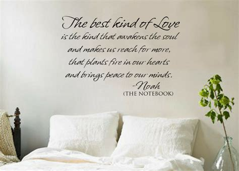 Best Kind Of Love The Notebook Vinyl Decal Wall Quote