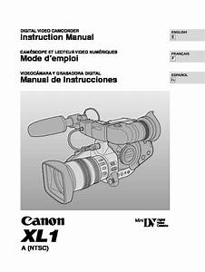 Canon Xl1 Digital Camcorder Kit Manual Pdf Canon