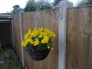 2, X, Hanging, Basket, Brackets, For, Concrete, Fence, Posts, H, Section