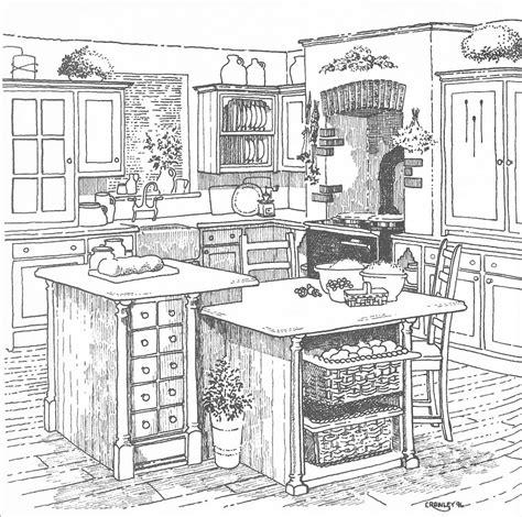 kitchen design sketch island designs drawings 1358