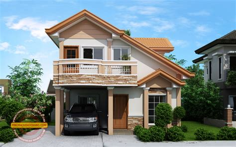 Home Design 02 : Two Story Contemporary House Plan With Open To Below