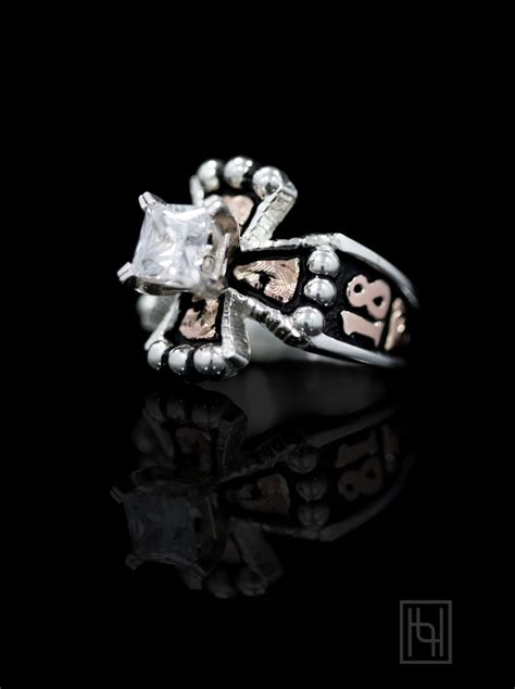 custom chopper cross  solitaire custom rings  hyo