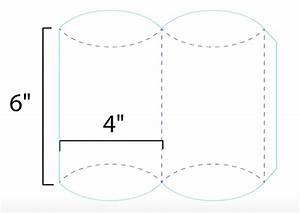 how to create a pillow box With curved box template