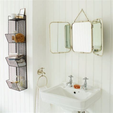 Bathroom Mirror Vintage by Silver Tri Fold Carriage Mirror Wall Decor Mirror With