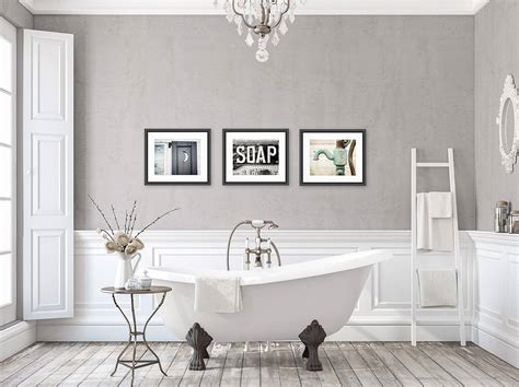 rustic bathroom wall decor bathroom wall art set   prints