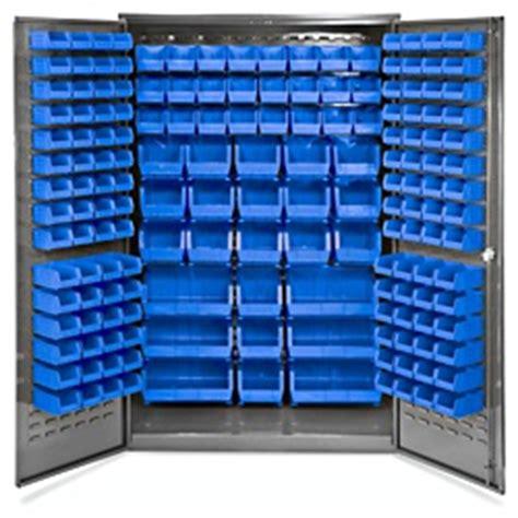 bin storage cabinet 48 x 24 x 78 quot 168 blue bins h 2488blu uline