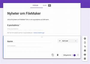 Google Forms Och Filemaker