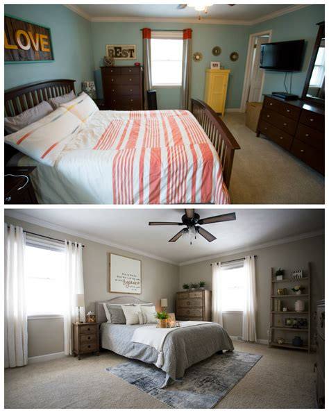 Bedroom Makeover Master by Master Bedroom Makeover Before After Living In Yellow
