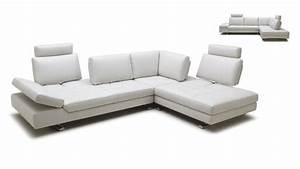 Canape d39angle en cuir contemporain minho mobilier moss for Canapé d angle réglable