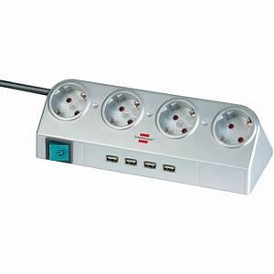 Multiprise Avec Usb : brennenstuhl desktop power 4 prises usb hub 2 0 ~ Melissatoandfro.com Idées de Décoration