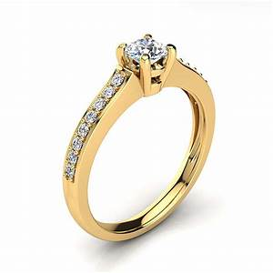 affordable 14k gold round diamond engagement ring 05ct With affordable diamond wedding rings