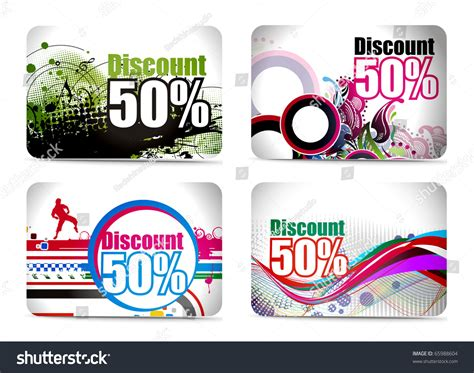 discount card set design vector illustration