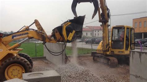 mb   crusher bucket crushing concrete youtube