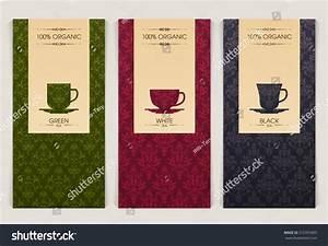 Vector Set Templates Packaging Tea Label Stock Vector ...