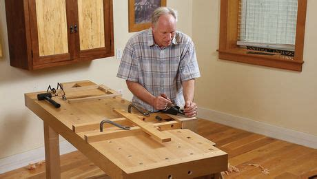 installing  woodworking vise  drilling dog holes