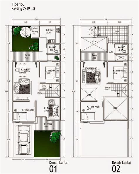 desain rumah minimalis  lantai ukuran  gambar