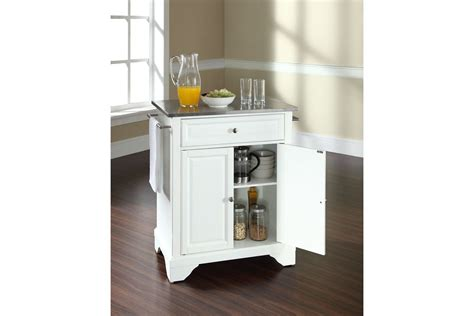 stainless steel top kitchen island lafayette stainless steel top portable kitchen island in