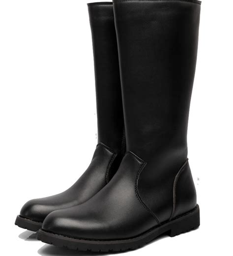 mens black motorcycle riding boots 2015 new sale mens knee high leather riding boots