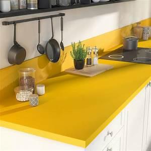 Plan De Travail 90x200 : plan de travail stratifi jaune serin mat x cm ~ Melissatoandfro.com Idées de Décoration